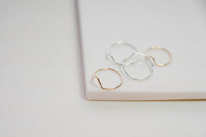 Mini Mountain Ring in Sterling Silver