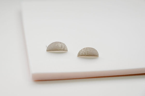 Moon over water sterling silver earrings
