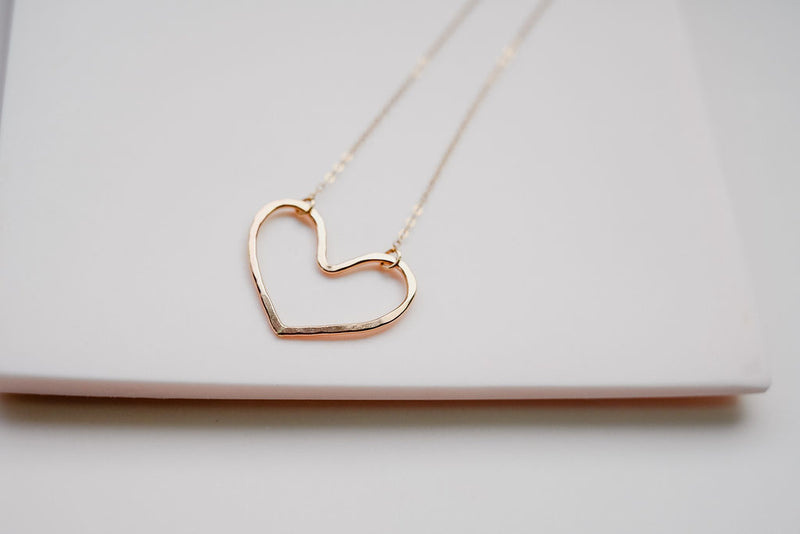 Our Gold heart necklace