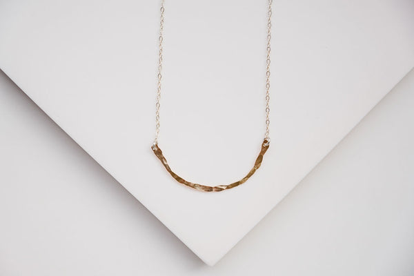 Gold Branch Texture Necklace