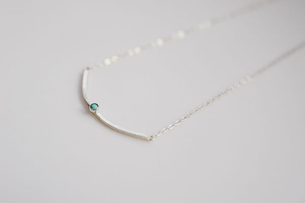Birds Nest Necklace with 3mm Gemstone
