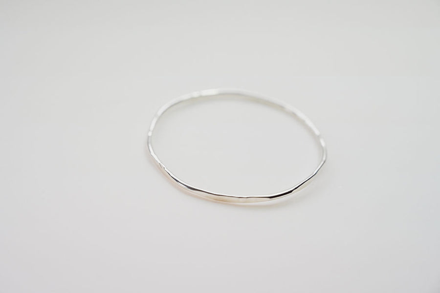 HEX BANGLE STACKING SILVER BRACELET