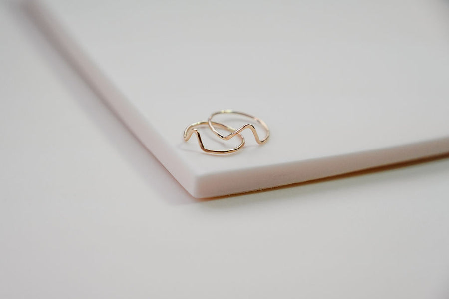 Mini Mountain Ring in 14kt Gold-Filled Ring