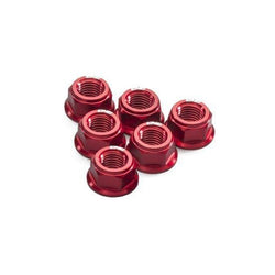 CNC Racing Ergal Billet Flange Nuts for Ducati's (set of 6)