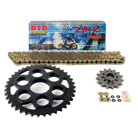 AFAM SUPERLITE Direct Replacement Steel Sprocket and Chain Set - 525 Pitch