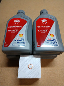 Ducati OEM Oil Change Kit (Manufacturer Recommended)