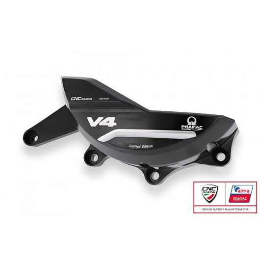 CNC Racing PRAMAC EDITION Billet Generator Protector for the Ducati Panigale V4 / S / Speciale