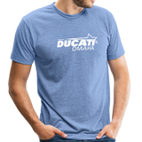 Team Ducati Omaha Unisex Tri-Blend T-Shirt - heather Blue
