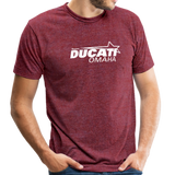 Team Ducati Omaha Unisex Tri-Blend T-Shirt - heather cranberry