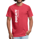 Social Distancing Fitted Cotton/Poly T-Shirt by Next Level - heather red