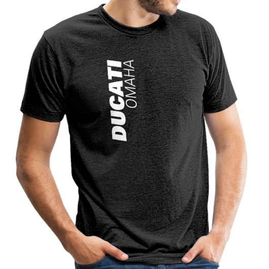 Ducati Omaha Upward Unisex Tri-Blend T-Shirt - heather black
