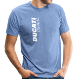 Ducati Omaha Upward Unisex Tri-Blend T-Shirt - heather Blue