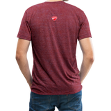 Ducati Omaha Upward Unisex Tri-Blend T-Shirt - heather cranberry