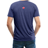 Ducati Omaha Upward Unisex Tri-Blend T-Shirt - heather indigo