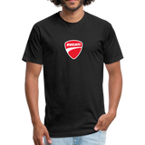 Iconic Ducati Fitted Cotton/Poly T-Shirt by Next Level - black