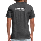 Iconic Ducati Fitted Cotton/Poly T-Shirt by Next Level - heather black
