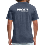 Iconic Ducati Fitted Cotton/Poly T-Shirt by Next Level - heather navy