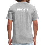 Iconic Ducati Fitted Cotton/Poly T-Shirt by Next Level - heather gray