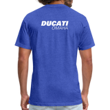 Iconic Ducati Fitted Cotton/Poly T-Shirt by Next Level - heather royal