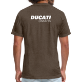 Iconic Ducati Fitted Cotton/Poly T-Shirt by Next Level - heather espresso