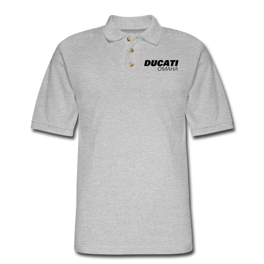 Ducati Omaha Light Color Polo Shirt - heather gray