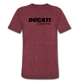 Ducati Omaha Unisex Tri-Blend T-Shirt - heather cranberry