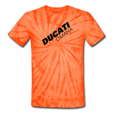 Ducati Omaha Unisex Tie Dye T-Shirt - spider orange