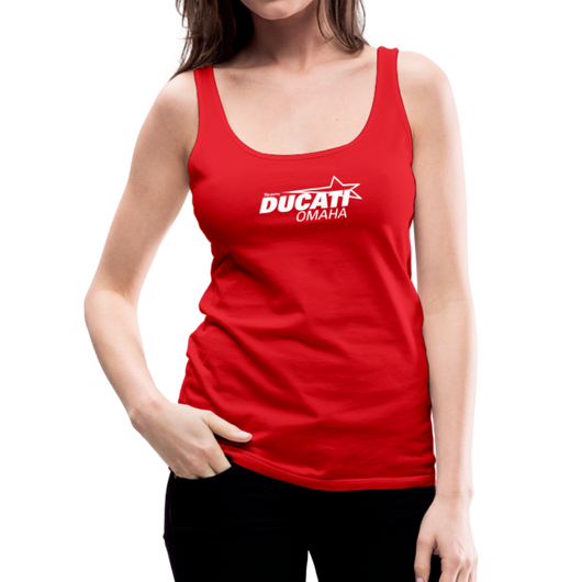 Team Ducati Omaha Women's Premium Tank Top - red