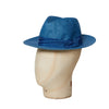 Blue Travel Trilby Hat