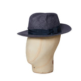 Blue Grey Travel Trilby Hat