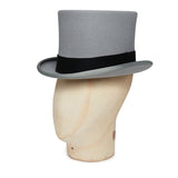 Silver Tall Top Hat