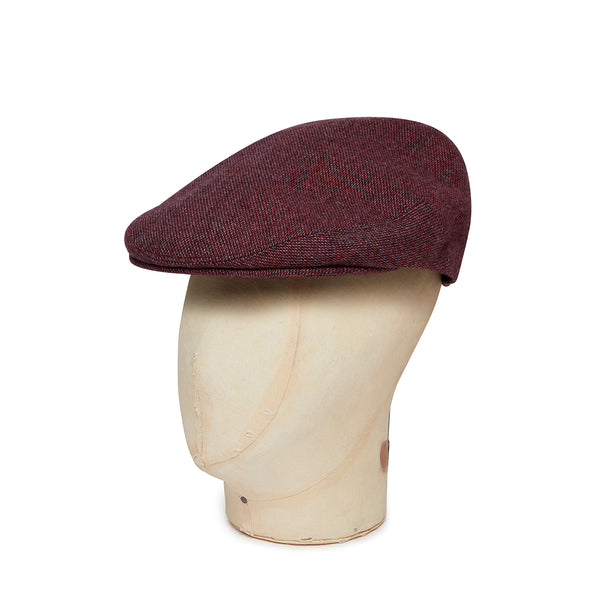 Red Twill Wool/Cashmere Mix Flat Cap