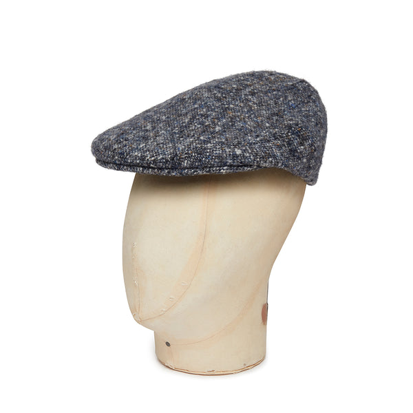 White Twill Wool Flat Cap