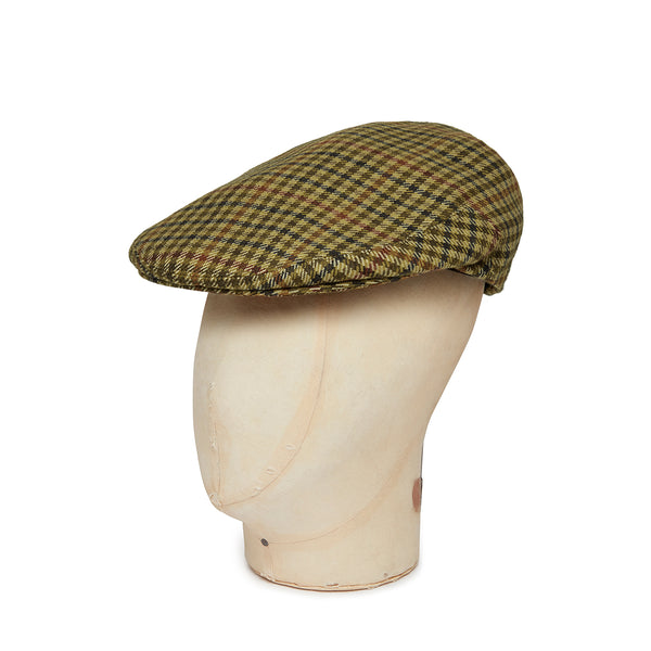Cream Twill Wool/Cashmere Mix Flat Cap