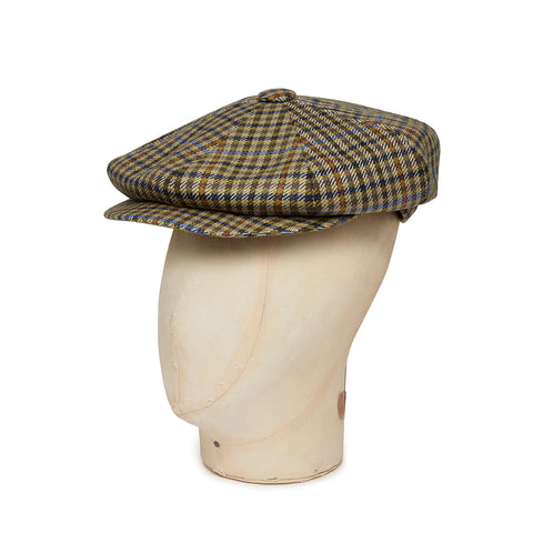 Cream Twill Wool/Cashmere Mix Gatsby Cap
