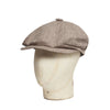 Beige Linen With Brown Overcheck Gatsby Cap