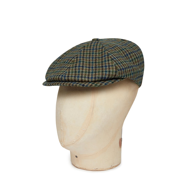 Cream Twill Houndstooth Check Wool Toni Cap