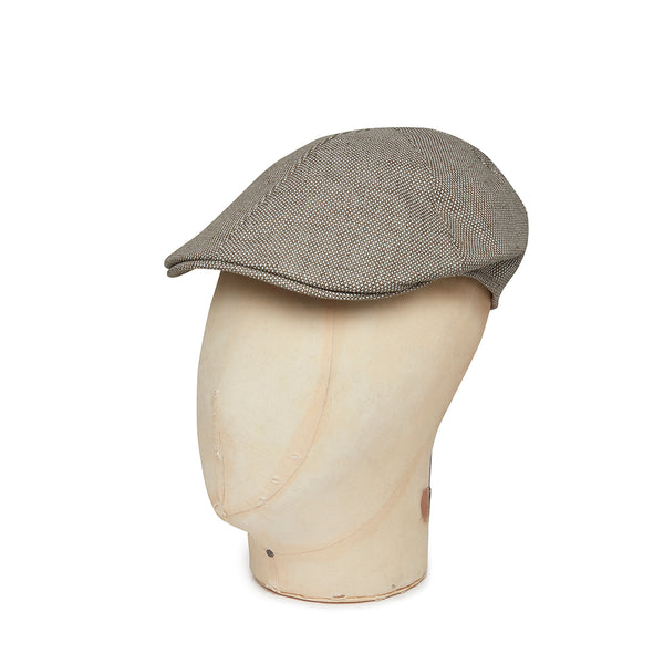 White Linen/Cotton Mix Roma Cap
