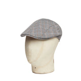Boys Brown, Black & Orange Overcheck Roma Flat Cap