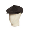 Dark Brown Loden Wool Gatsby Cap