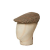 Cream, Green, Red & Yellow Houndstooth Check Flat Cap