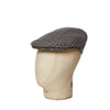 Grey, White, Red, Green & Orange Houndstooth Flat Cap