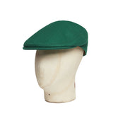 Leprechaun Green Wool Flat Cap