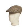 Yellow, Red, Olive & Blue Houndstooth Stripe Cashmere & Wool Flat Cap
