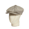 Light Beige Herringbone Silk Gatsby Cap