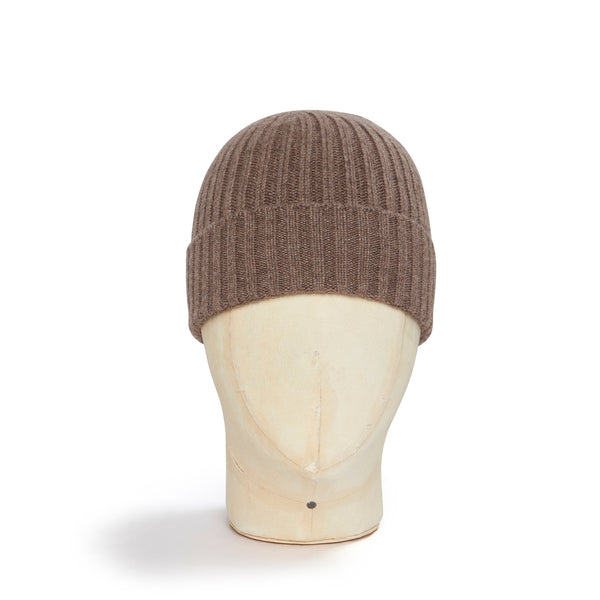 Wood Brown Cashmere Beanie