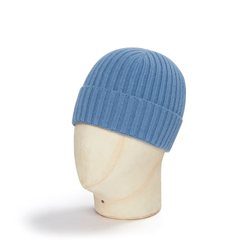 Denim Blue Cashmere Beanie