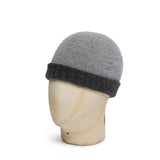 Dark Grey & Light Grey Cashmere Reversible Beanie