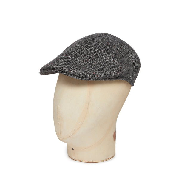 Grey Donegal Tweed Woollen Roma Cap