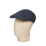 Blue Multi Check Wool & Cashmere Roma Cap